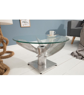 Stolik kawowy Ocean 60 cm srebrna rama