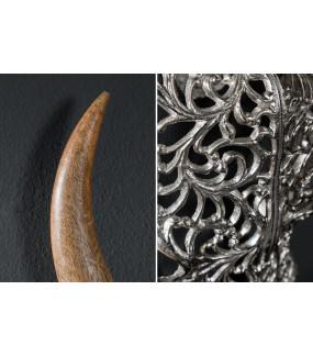 Ozdoba ścienna Skull Exotic Bull 57 cm srebrne