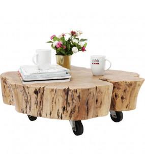Stolik kawowy Snag z drewna akacji