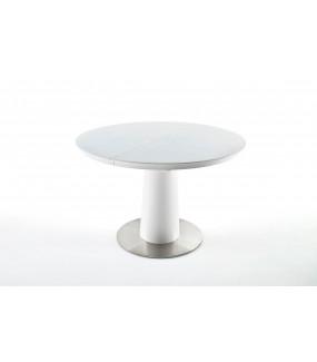 Stół rozkładany WARIS 120 cm - 160 cm biały do salonu
