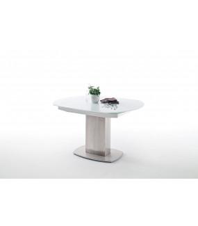 Stół rozkładany ZELDER 130 cm - 190 cm szklany do salonu