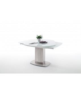 Stół rozkładany ZELDER 130 cm - 190 cm szklany
