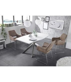 Stół rozkładany STEVEN 160 cm - 210 cm biały