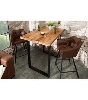 Stół barowy Iron Craft 120cm naturalny Mango