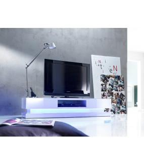Stolik pod TV STEP biały z oświetleniem