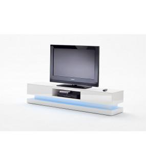 Stolik pod TV STEP biały z oświetleniem do salonu