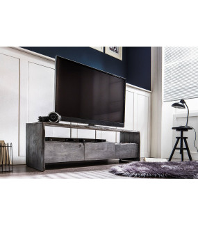 Stolik pod TV BUGRI 140 cm akacja szara