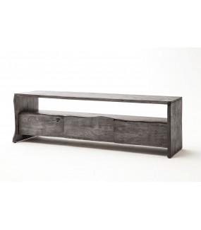 Stolik pod TV BUGRI 140 cm akacja szara do salonu