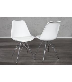 Krzesło Scandinavia NewLook Retro białe