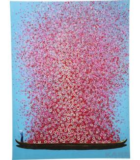 Obraz Touched Flower Boat 160x120cm różowy