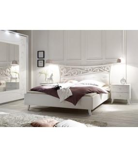 Łóżko SOLER 160 cm x 200 cm białe