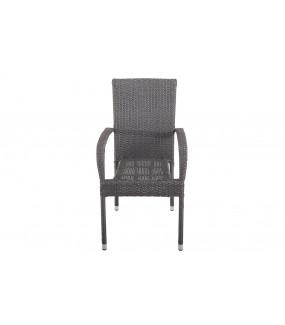 Krzesło Ogrodowe NIZZA Rattan szare