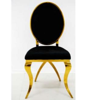 Krzesło barokowe czarno złote