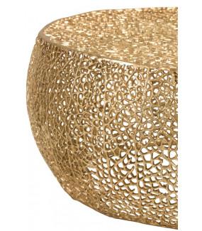 Stolik Kawowy Coral złoty do salonu
