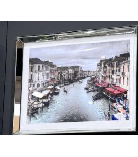 Obraz Wenecja 80 cm z lustrzaną ramą