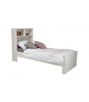 Łóżko MAX białe z półką