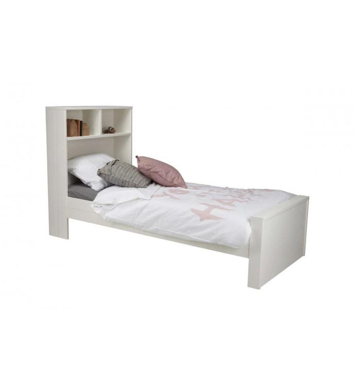 łóżko Max 90 Cm X 200 Cm Białe Z Półką