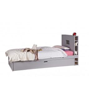 Łóżko STORE 90 cm x 200 cm z szufladą szare