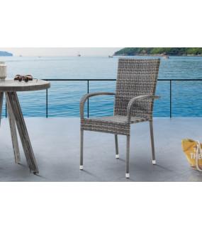 Krzesło ogrodowe NIZZA z rattanu