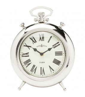 Zegar Pocket Round srebrny