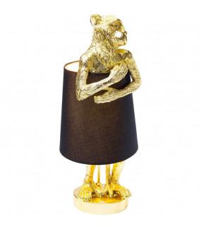 Lampa stołowa Animal Monkey czarno złota