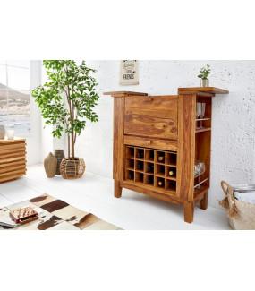 Barek wykonany z naturalnego drewna sheesham przepięknie wpisze się do salonu oraz jadalnii w stylu klasycznym.
