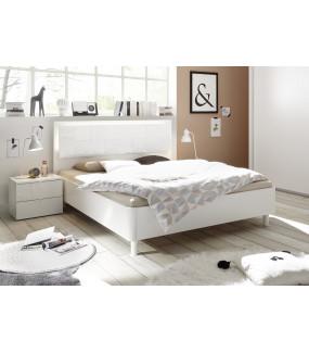 Łóżko XAOS 180 Cm X 200 Cm Białe Z Ozdobnym Nadrukiem