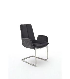 Krzesło GRIGOR z podłokietnikami Czarne