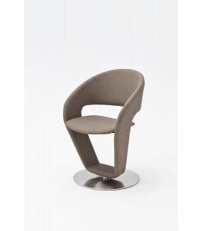 Krzesło FIRONA Szarobrązowe