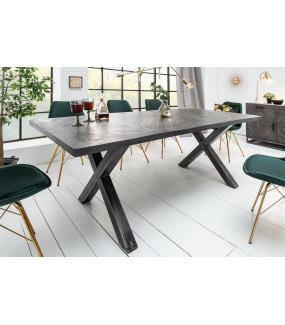 Stół Infinity Home 160 Cm Szary Mango do jadalni