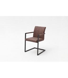 Krzesło KIAN z podłokietnikami brązowe
