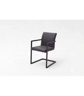 Krzesło KIAN A z podłokietnikami szare