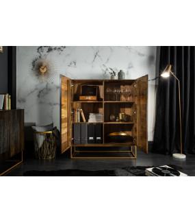 Będzie pięknym dodatkiem do  gabinetu vintage  lub jadalni urządzonej w stylu glamour.