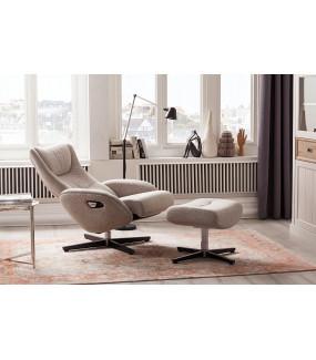 Fotel z podnóżkiem GALLWAY beżowy do salonu