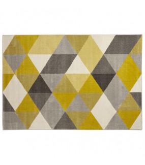 Dywan w geometryczne wzory będzie idealny do pokoju nowoczesnego zapewniając oryginalny design.