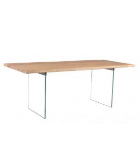 Stół Mammut 200 cm akacja z szklaną ramą