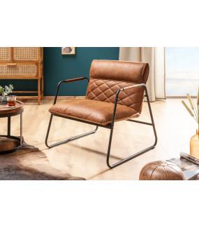 Fotel Mustang Lounger brązowy do salonu