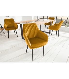 Krzesło Turyn musztardowy żółty