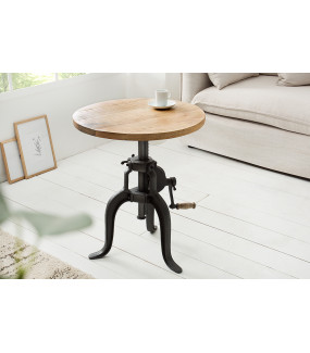 Stolik kawowy Engineer 50 cm Mango do salonu
