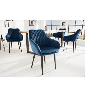 Krzesło Turin niebieskie