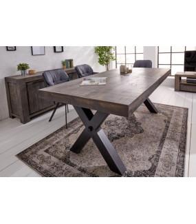 Stół Iron Craft X 200 cm szary Mango
