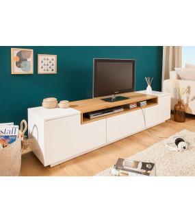 Stolik pod TV Loft 180 cm biało dębowy
