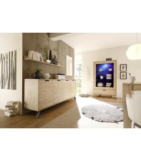 Półka ścienna PALMA 158 Cm w kolorze dębowym do sypialni