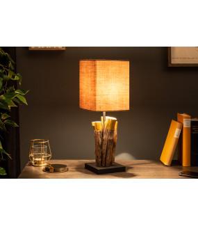 Lampa stołowa PureNature 45 cm brązowa