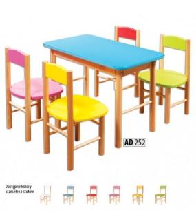 Stolik dla dzieci kolorowy bukowy
