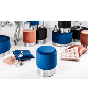 Pufa Modern Barock 35 Cm niebieska