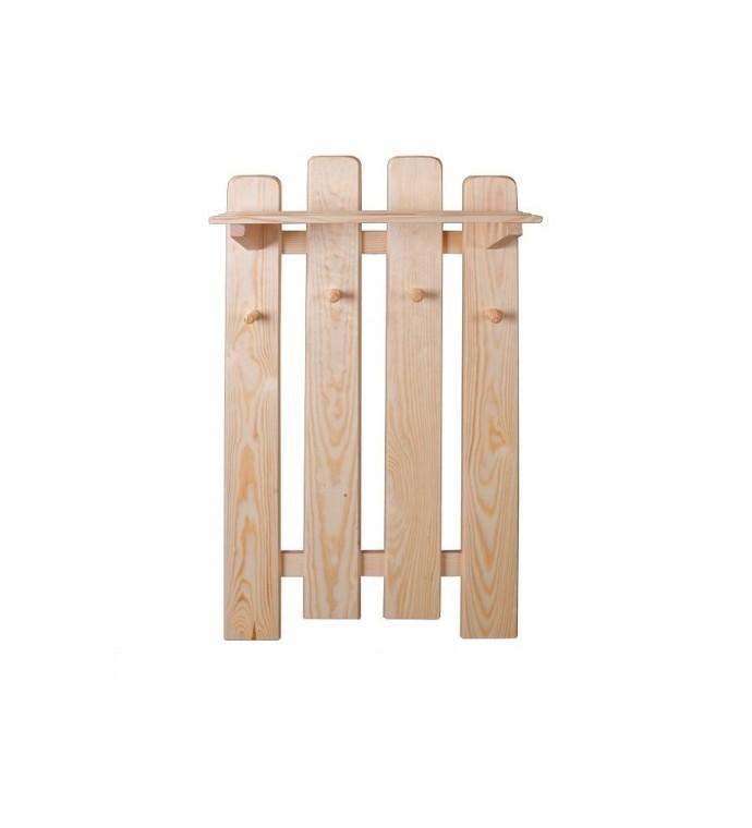 Wieszak ścienny z drewna sosnowego