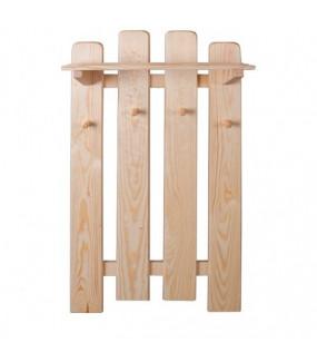 Wieszak ścienny z drewna sosnowego do przedpokoju