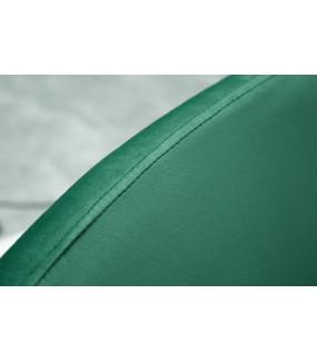 Krzesło barowe Milano szmaragdowo zielony aksamit