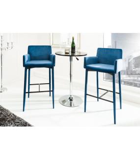 Krzesło Barowe Milano niebieskie